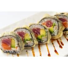 F4. Tempura Kanfood Roll 10pcs 13.90€  Au crème cheese avocat saumon thon crevettes