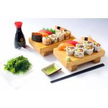 Dans ce menu, vous pouvez choisir deux plats crus dans le Groupe A .  Prix emporté : 21. 50 euros