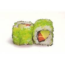 Maki masago au goût wasabi, 6 pièces